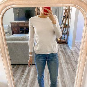 360 Cashmere Fine Knit Crew Sweater Pullover XS